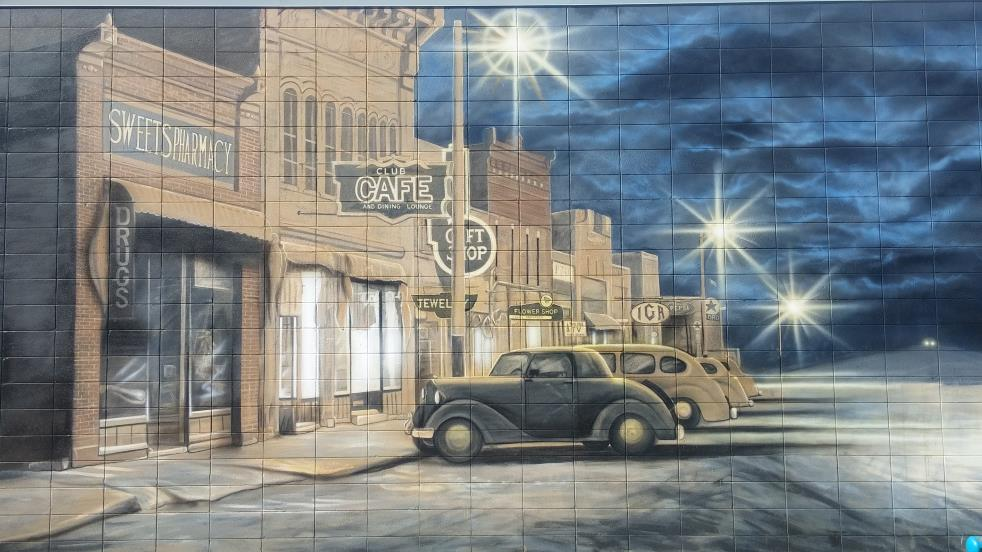 Mural of a Historic Downtown Street