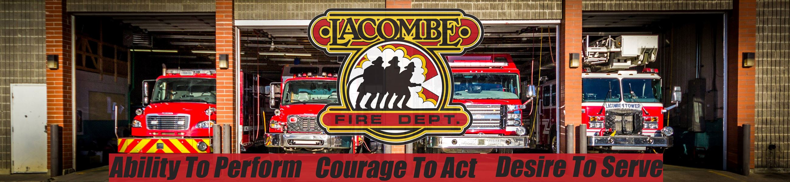 Lacombe Fire Banner